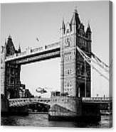 Helicopter At Tower Bridge Canvas Print