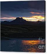 Iceland Midnight Sun Canvas Print