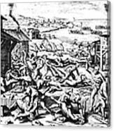 Jamestown: Massacre, 1622 Canvas Print