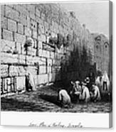 Jerusalem: Wailing Wall Canvas Print
