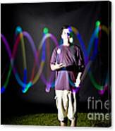Juggling Light-up Balls Canvas Print
