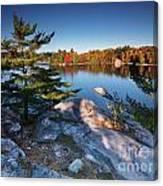Lake George At Killarney Provincial Park In Fall Canvas Print