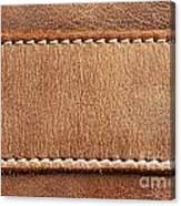 Leather With Stitching Canvas Print