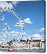 London Eye And County Hall Canvas Print