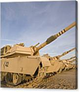 M1 Abrams Tanks At Camp Warhorse Canvas Print