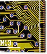 Macrophotograph Of A Circuit Board Canvas Print