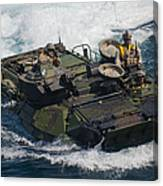 Marines Navigate An Amphibious Assault Canvas Print