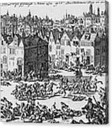 Massacre Of Huguenots Canvas Print