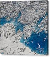 Meltwater Lakes On Hubbard Glacier Canvas Print