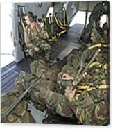 Members Of The Pathfinder Platoon Canvas Print