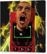 Mobile Phone Rage Canvas Print