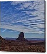Morning Clouds Over Monument Valley Canvas Print
