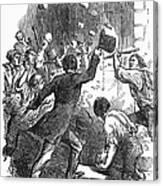 New York: Astor Place Riot Canvas Print