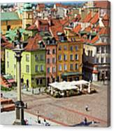 Old Town In Warsaw Canvas Print
