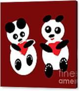 2 Pandas In Love Canvas Print