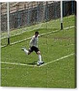 Photo Puzzle Of The Goalkeeper  Canvas Print