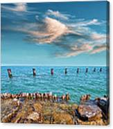 Pier Posts Canvas Print