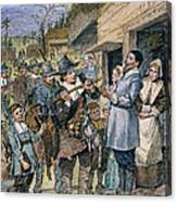 Pilgrims: Thanksgiving, 1621 Canvas Print