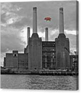 Pink Floyd Pig At Battersea Canvas Print