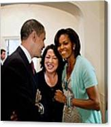 President And Michelle Obama Canvas Print