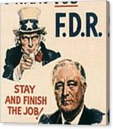 Presidential Campaign, 1940 Canvas Print