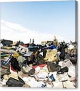 Recycling Collection Point Canvas Print