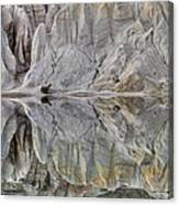 Reflection On Blue Lake, St Bathans Canvas Print