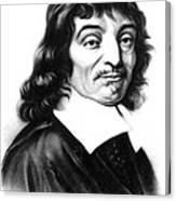 Ren� Descartes, French Polymath Canvas Print