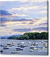River Boats On Danube Canvas Print