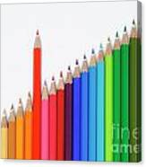 Row Of Colorful Crayons Canvas Print