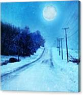 Rural Road In Winter Canvas Print