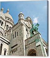Sacre Coeur Basilica Paris France Canvas Print
