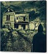 Scary Abandoned House On Hill Canvas Print
