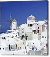 Scene In Santorini Island Greece Canvas Print