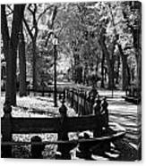 Scenes From Central Park Canvas Print