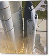 Shuttle Lift-off Canvas Print