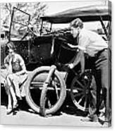 Silent Film: Automobiles Canvas Print