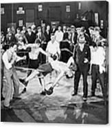 Silent Film Still: Boxing Canvas Print