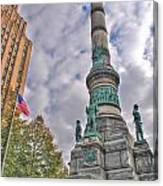 Soldiers And Sailors Monument In Lafayette Square Canvas Print
