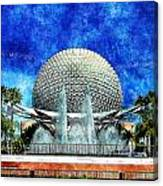 Spaceship Earth And Fountain Of Nations Canvas Print