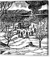 Spirit Lake Massacre, 1857 Canvas Print