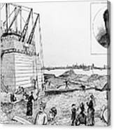 Statue Of Liberty, C1884 Canvas Print