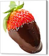 Strawberry Dipped In Chocolate Canvas Print