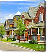 Suburban Homes Canvas Print