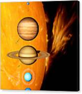 Sun And Its Planets Canvas Print
