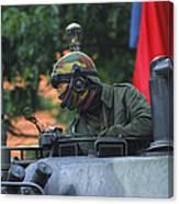 Tank Commander Of A Leopard 1a5 Mbt Canvas Print