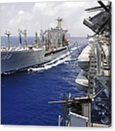 The Military Sealift Command Fleet Canvas Print