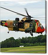 The Sea King Helicopter Of The Belgian Canvas Print