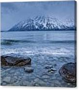 The Shoreline Of Kathleen Lake In Late Canvas Print