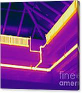 Thermogram Of Steam Pipes Canvas Print